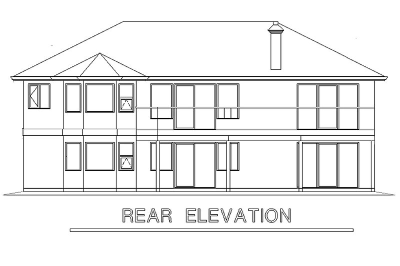 Ranch Exterior - Rear Elevation Plan #18-105 - Houseplans.com
