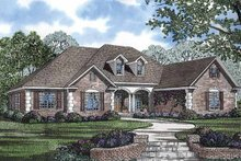 Home Plan - Colonial Exterior - Front Elevation Plan #17-2847
