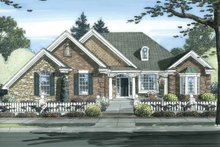 House Plan Design - Cottage Exterior - Front Elevation Plan #46-826