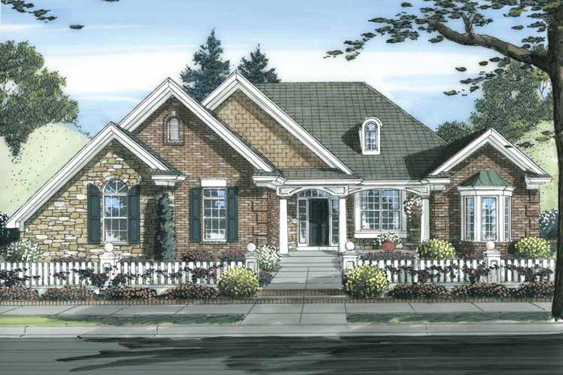 Cottage Exterior - Front Elevation Plan #46-826 - Houseplans.com