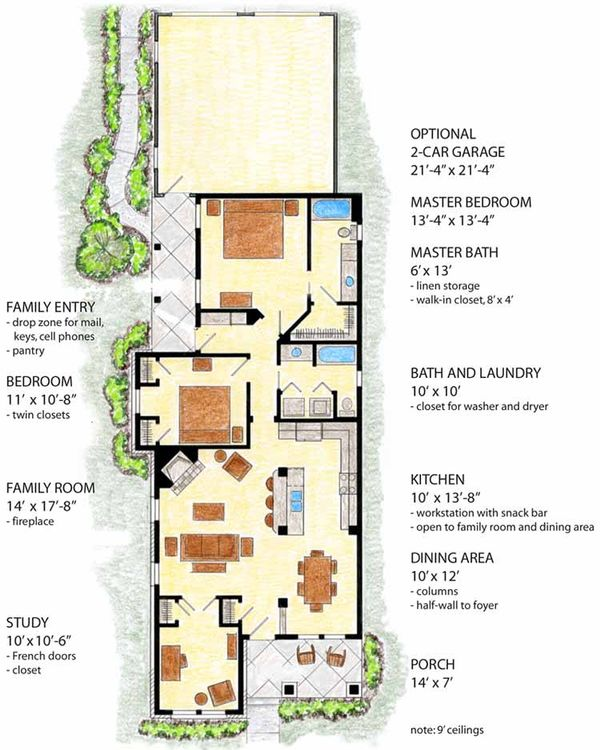 Home Plan - Country Floor Plan - Main Floor Plan #410-3560