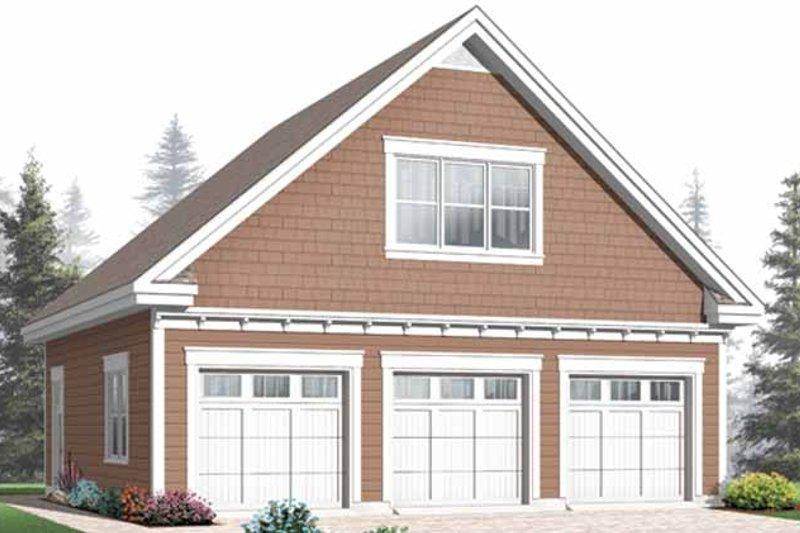 Craftsman Exterior - Front Elevation Plan #23-2467 - Houseplans.com
