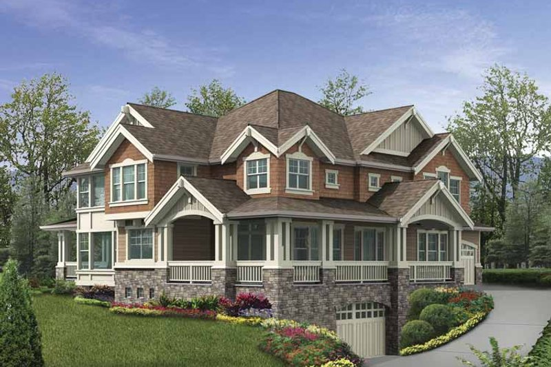Craftsman Exterior - Front Elevation Plan #132-487