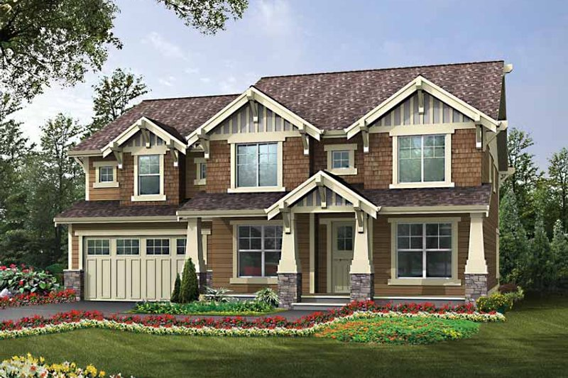 Craftsman Exterior - Front Elevation Plan #132-439 - Houseplans.com