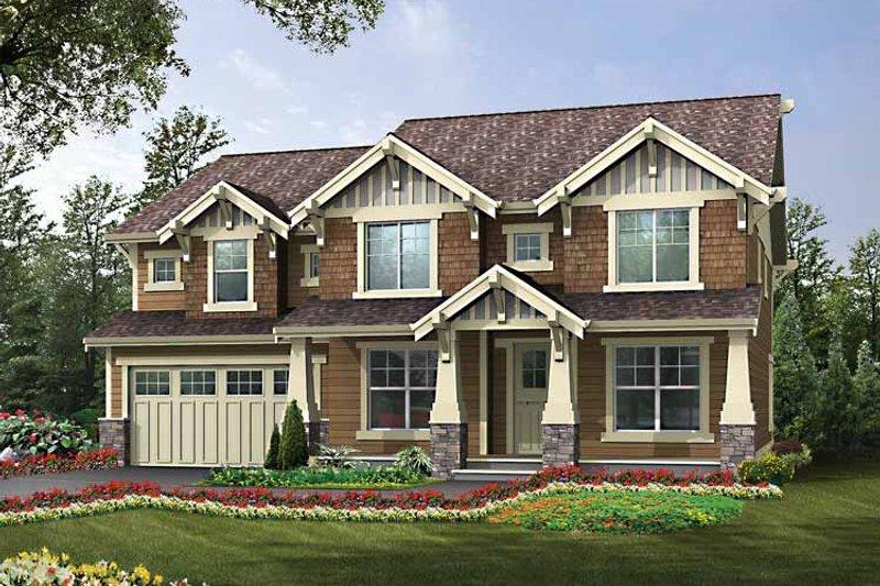 Architectural House Design - Craftsman Exterior - Front Elevation Plan #132-439