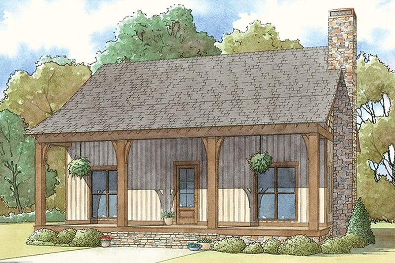 Country Exterior - Front Elevation Plan #17-3413