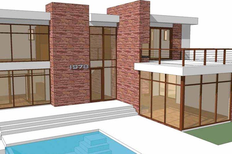 Contemporary Exterior - Front Elevation Plan #64-285 - Houseplans.com