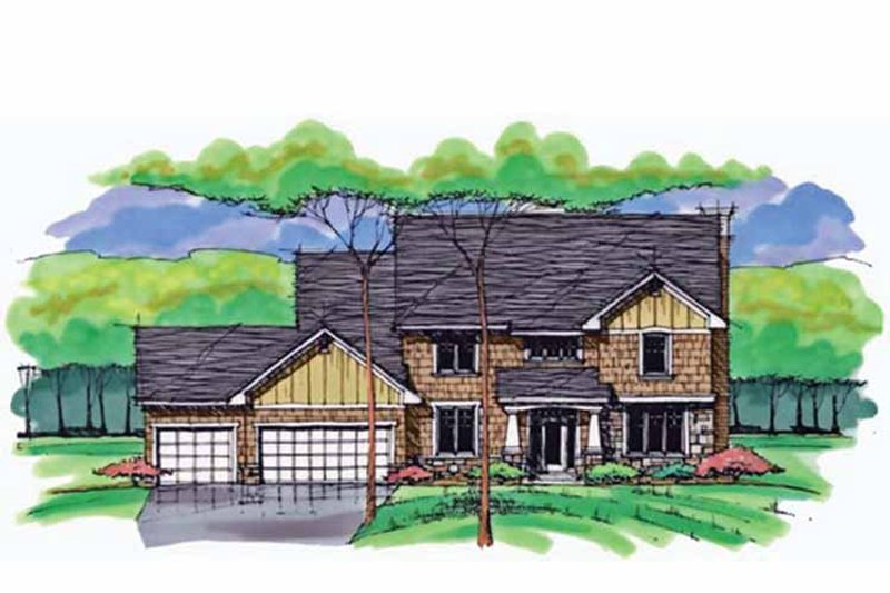 Colonial Exterior - Front Elevation Plan #51-1011