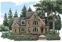 European Exterior - Front Elevation Plan #927-496