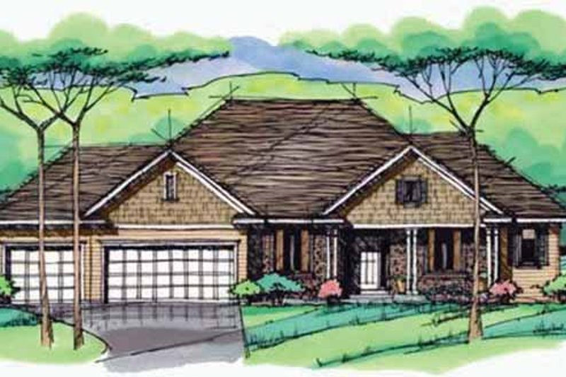 Dream House Plan - European Exterior - Front Elevation Plan #51-985