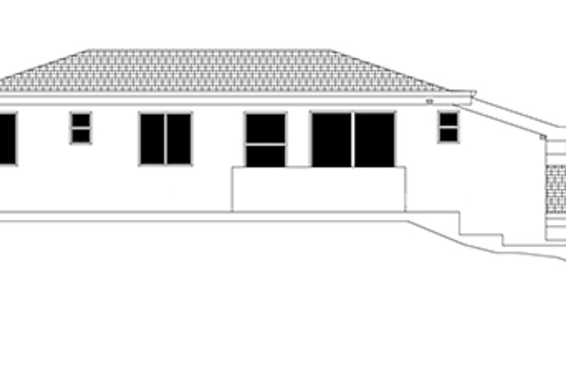 Contemporary Exterior - Rear Elevation Plan #943-19 - Houseplans.com