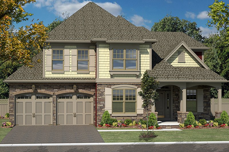 Colonial Exterior - Front Elevation Plan #316-280 - Houseplans.com