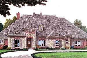 Architectural House Design - Country Exterior - Front Elevation Plan #310-1236