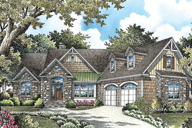 Ranch Exterior - Front Elevation Plan #929-995 - Houseplans.com