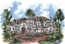 Mediterranean Exterior - Front Elevation Plan #1017-76
