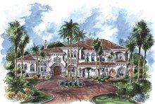 Architectural House Design - Mediterranean Exterior - Front Elevation Plan #1017-76