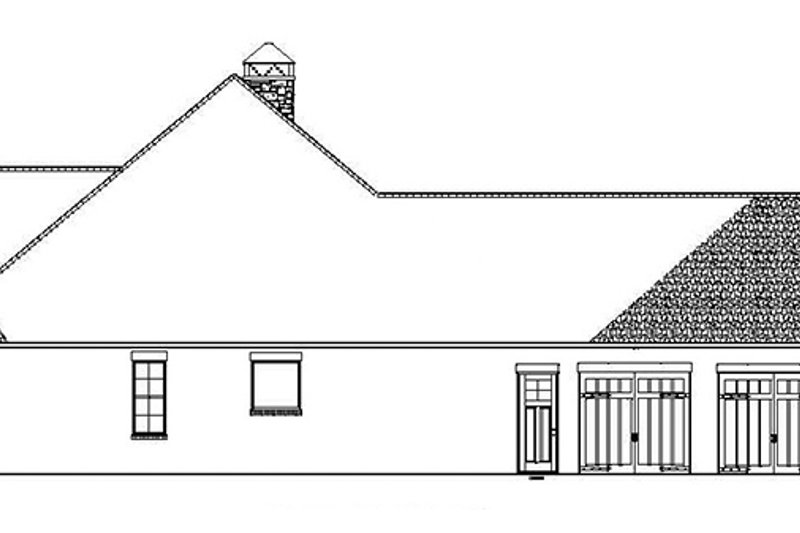 Ranch Exterior - Other Elevation Plan #17-3367 - Houseplans.com