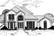 European Style House Plan - 4 Beds 3 Baths 3018 Sq/Ft Plan #317-106 Exterior - Front Elevation