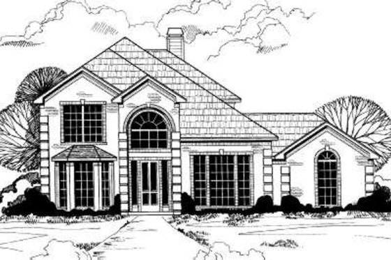 European Exterior - Front Elevation Plan #317-106