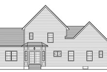 Home Plan - Traditional Exterior - Rear Elevation Plan #1010-140