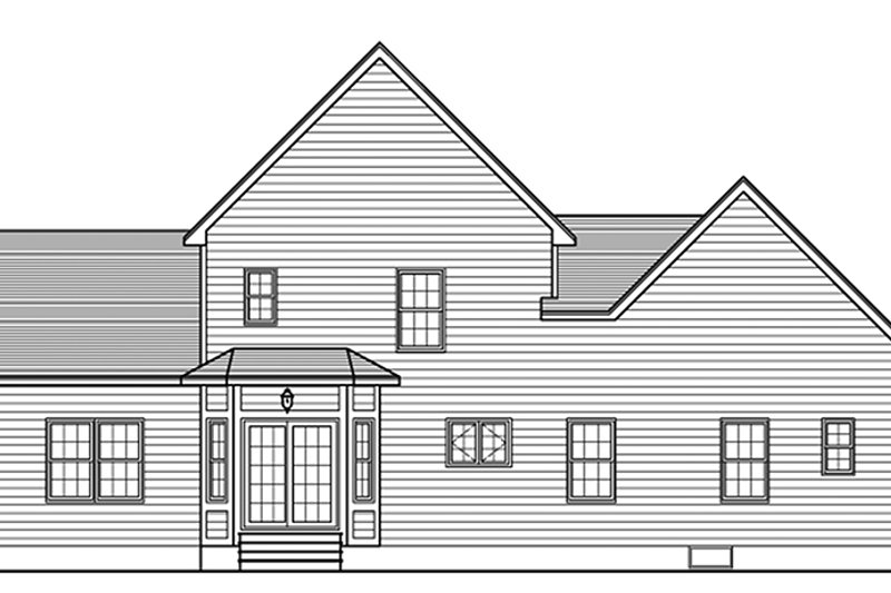 Traditional Exterior - Rear Elevation Plan #1010-140 - Houseplans.com