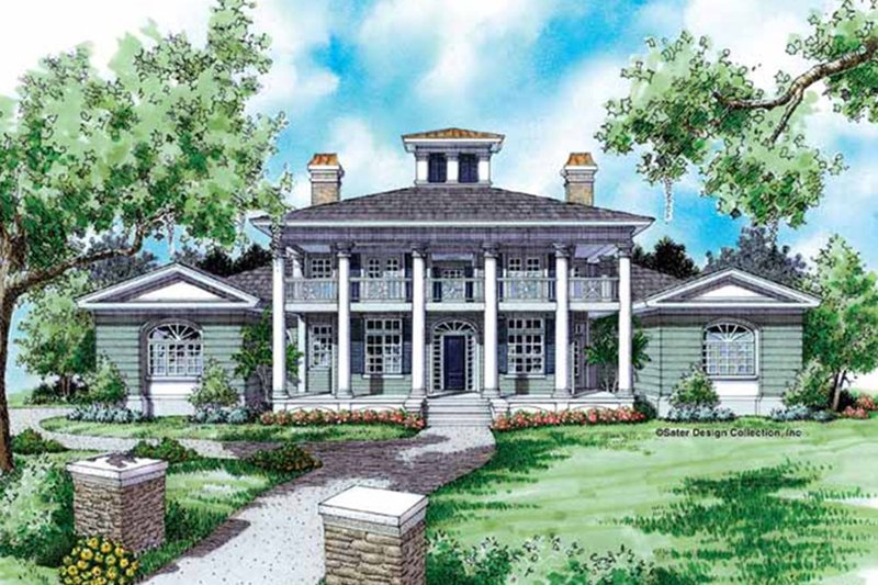 Classical Exterior - Front Elevation Plan #930-94