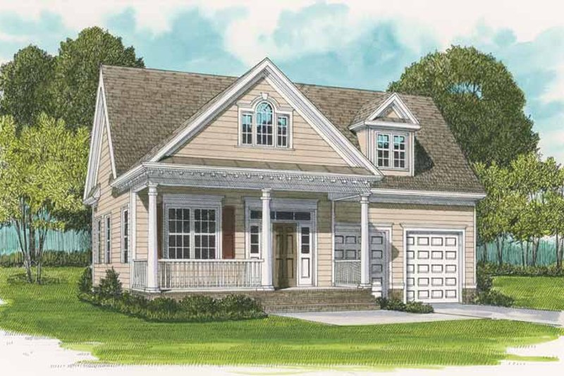 Country Exterior - Front Elevation Plan #413-894
