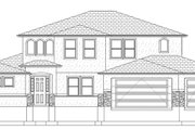 Mediterranean Style House Plan - 5 Beds 3.5 Baths 3859 Sq/Ft Plan #1060-29 Exterior - Front Elevation