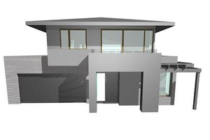Modern Exterior - Front Elevation Plan #496-16