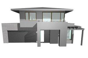 Modern Exterior - Front Elevation Plan #496-16