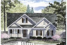 House Plan Design - Craftsman Exterior - Front Elevation Plan #316-257