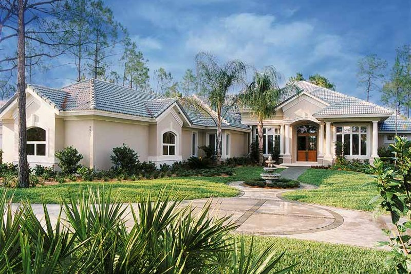 Mediterranean Exterior - Front Elevation Plan #930-47 - Houseplans.com