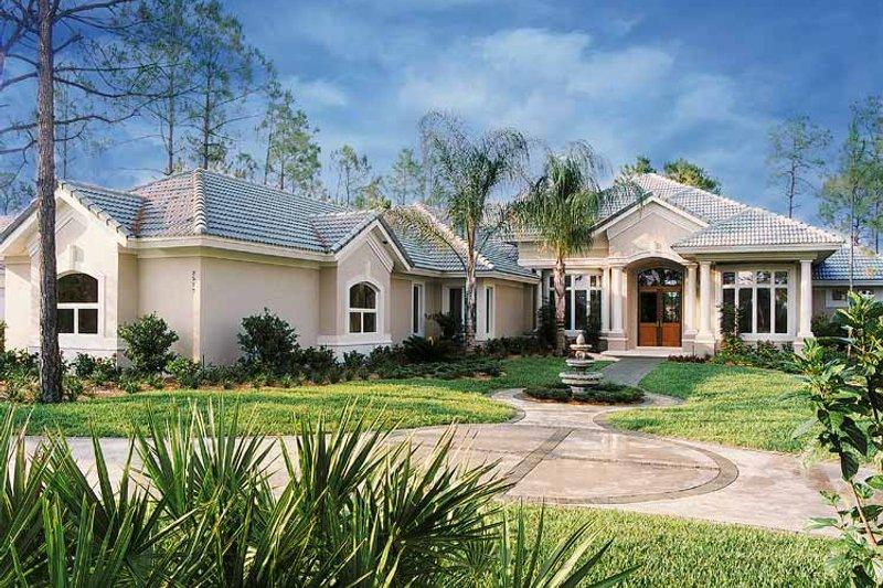 Dream House Plan - Mediterranean Exterior - Front Elevation Plan #930-47
