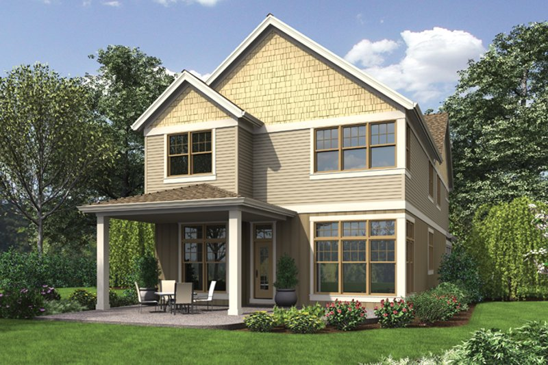Craftsman Exterior - Rear Elevation Plan #48-903 - Houseplans.com