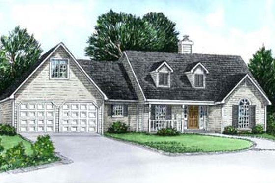 Country Exterior - Front Elevation Plan #16-116