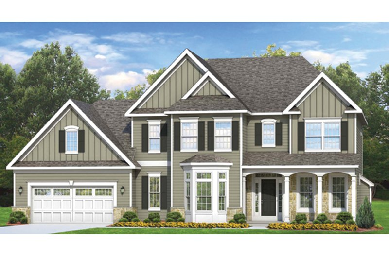 Colonial Exterior - Front Elevation Plan #1010-62