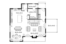 European Floor Plan - Main Floor Plan Plan #23-2512