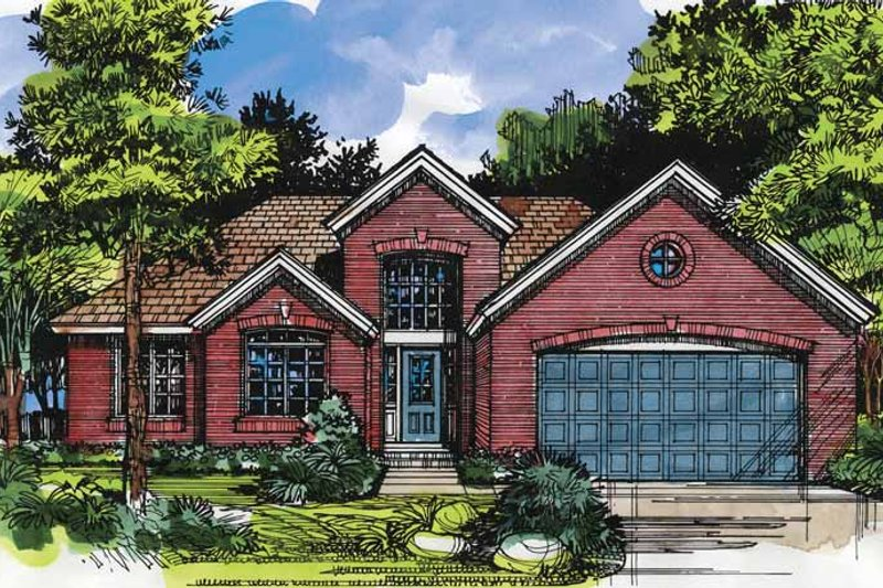 Traditional Exterior - Front Elevation Plan #320-586 - Houseplans.com
