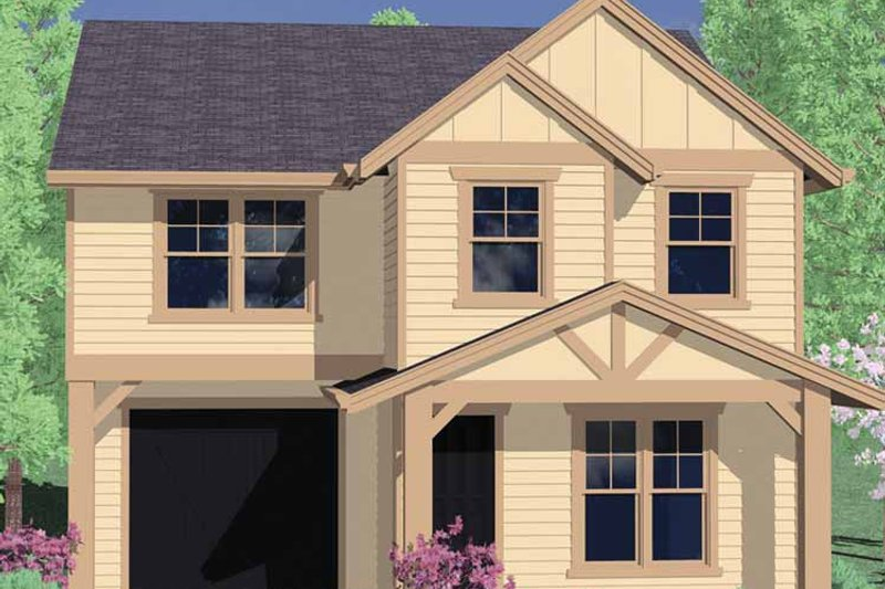 Traditional Exterior - Front Elevation Plan #509-184 - Houseplans.com