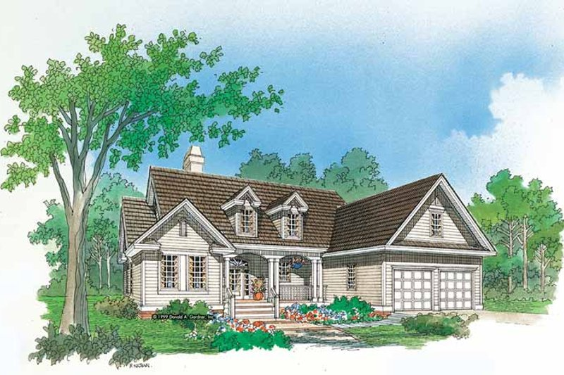Country Exterior - Front Elevation Plan #929-429