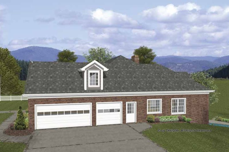 Craftsman Exterior - Front Elevation Plan #56-688 - Houseplans.com