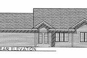 Traditional Style House Plan - 3 Beds 2 Baths 1206 Sq/Ft Plan #70-102 Exterior - Rear Elevation