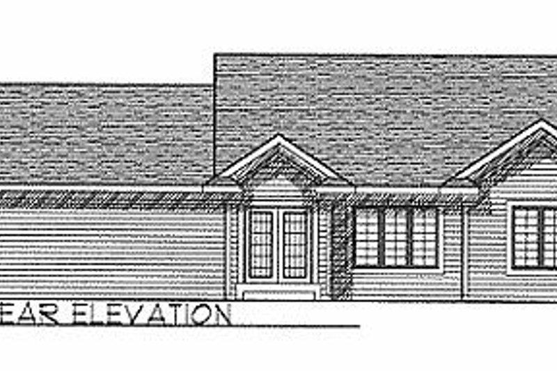 Traditional Exterior - Rear Elevation Plan #70-102 - Houseplans.com