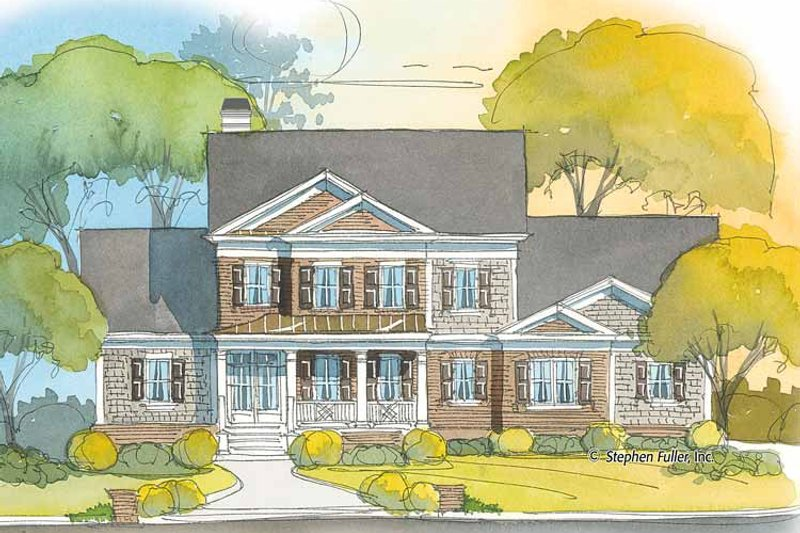 Colonial Exterior - Front Elevation Plan #429-402 - Houseplans.com