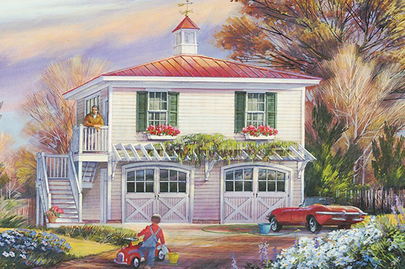 Architectural House Design - Traditional Exterior - Front Elevation Plan #137-368