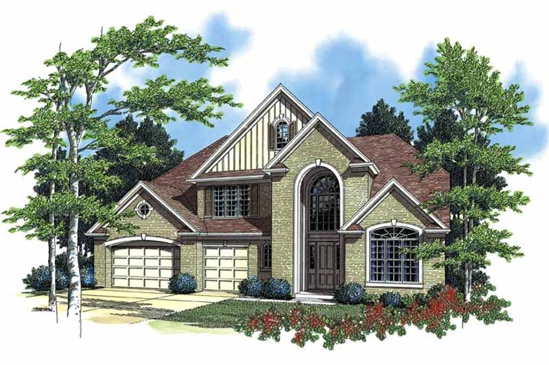 Dream House Plan - Traditional Exterior - Front Elevation Plan #48-784