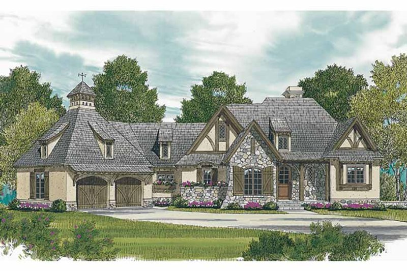 European Exterior - Front Elevation Plan #453-607