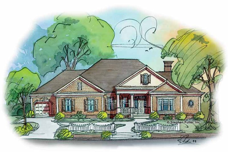 Classical Exterior - Front Elevation Plan #429-269