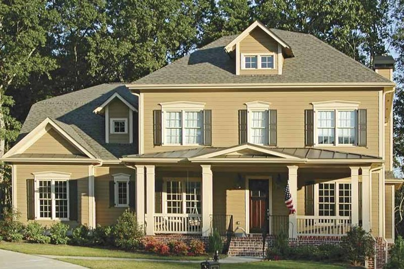 Country Exterior - Front Elevation Plan #54-223 - Houseplans.com