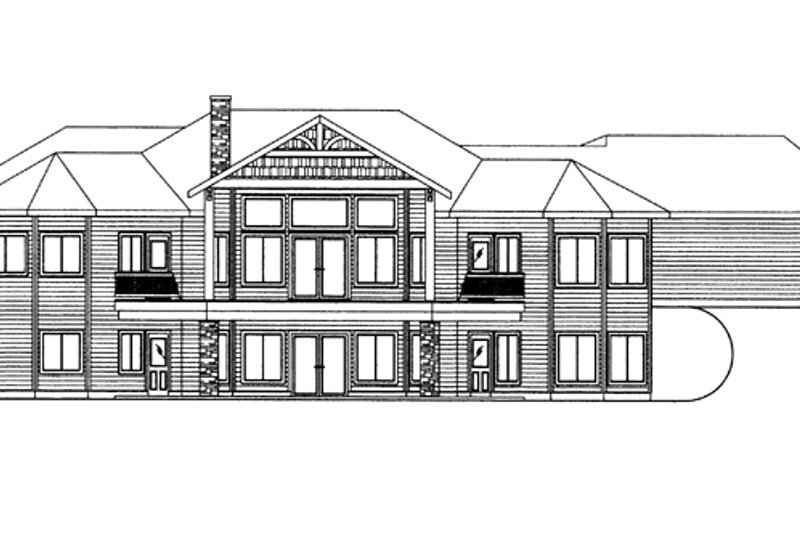 Ranch Exterior - Rear Elevation Plan #117-861 - Houseplans.com